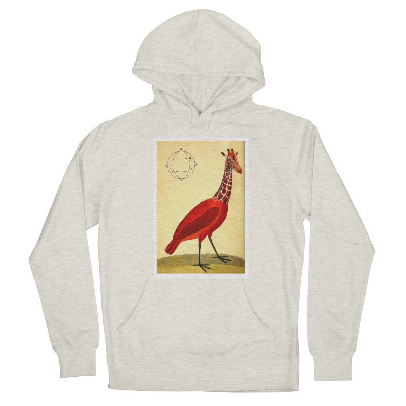 Bird Giraffe Men's French Terry Pullover Hoody by Artist Shop of Pyramid Expander