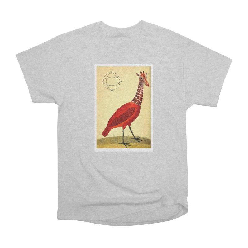 Bird Giraffe Men's Classic T-Shirt by Artist Shop of Pyramid Expander