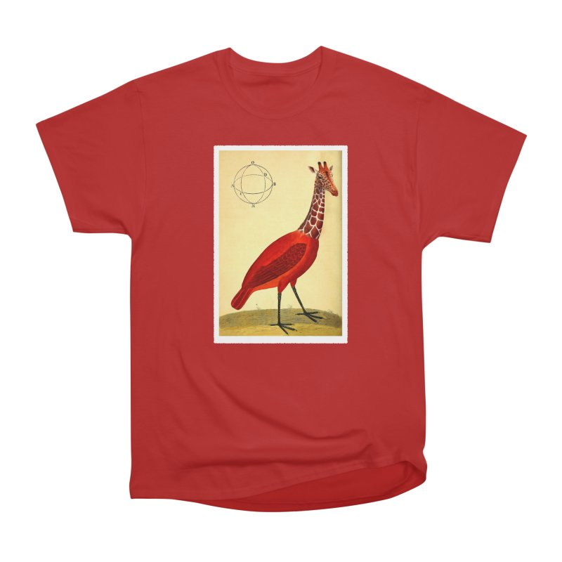 Bird Giraffe Women's Classic Unisex T-Shirt by Artist Shop of Pyramid Expander