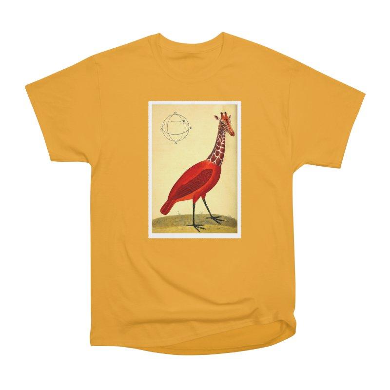 Bird Giraffe Women's Heavyweight Unisex T-Shirt by Artist Shop of Pyramid Expander