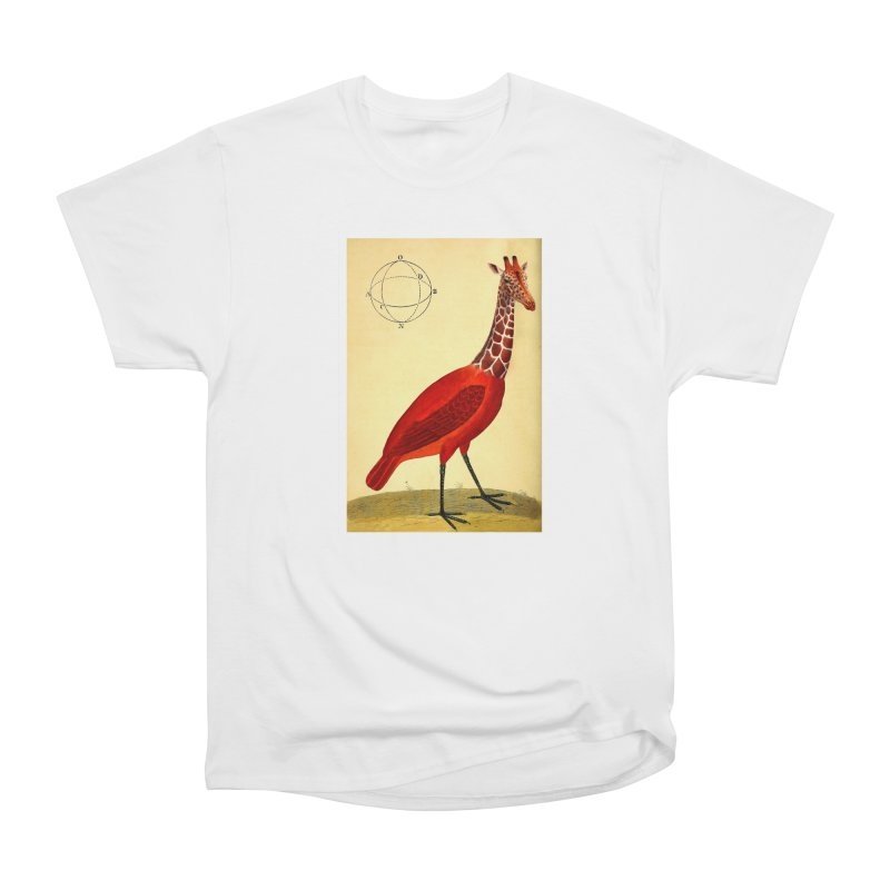 Bird Giraffe Women's Heavyweight Unisex T-Shirt by Artist Shop of Pyramid Expander
