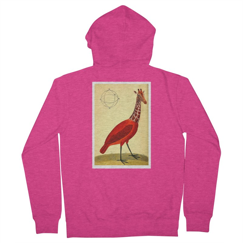 Bird Giraffe Women's Zip-Up Hoody by Artist Shop of Pyramid Expander