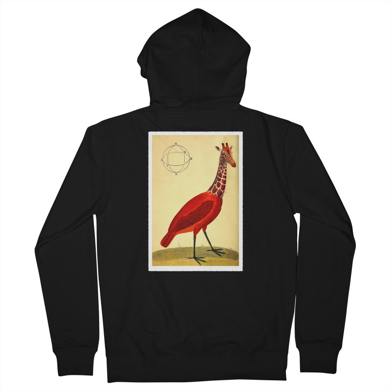Bird Giraffe Men's Zip-Up Hoody by Artist Shop of Pyramid Expander