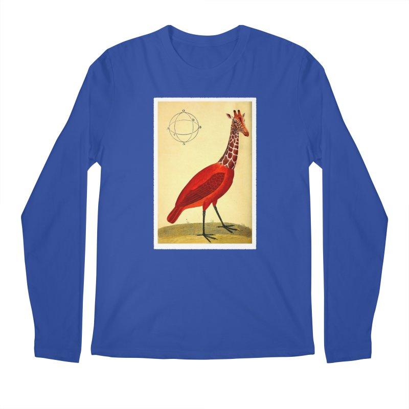Bird Giraffe Men's Regular Longsleeve T-Shirt by Artist Shop of Pyramid Expander