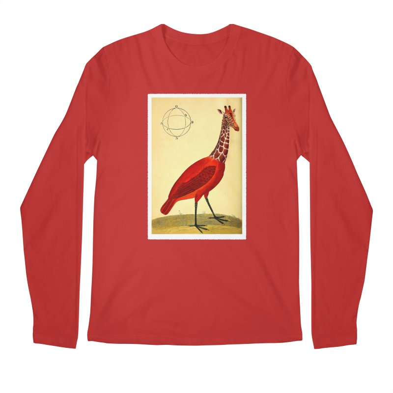 Bird Giraffe Men's Regular Longsleeve T-Shirt by Artist Shop of Pyramid Expander