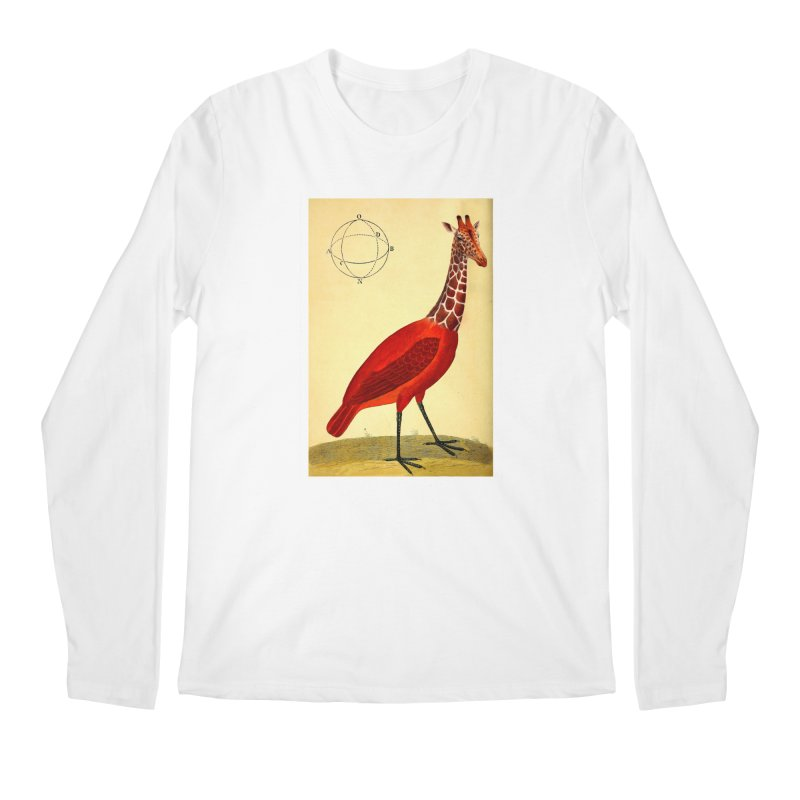 Bird Giraffe Men's Longsleeve T-Shirt by Artist Shop of Pyramid Expander