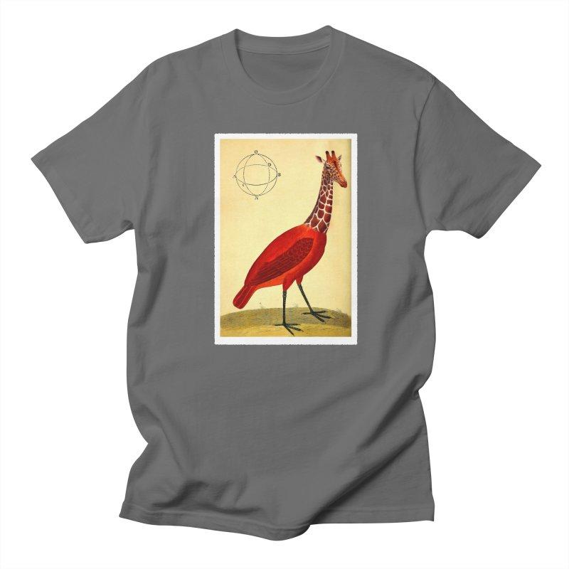 Bird Giraffe Men's T-Shirt by Artist Shop of Pyramid Expander