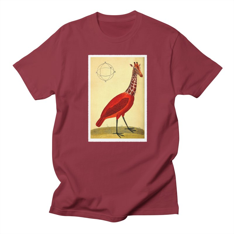 Bird Giraffe Men's Regular T-Shirt by Artist Shop of Pyramid Expander
