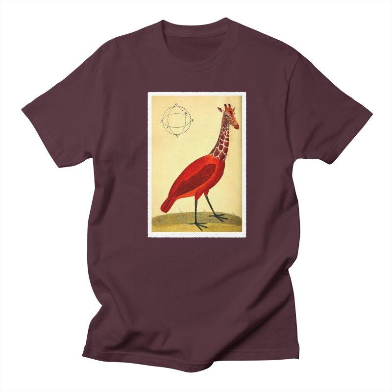 Bird Giraffe Women's Regular Unisex T-Shirt by Artist Shop of Pyramid Expander