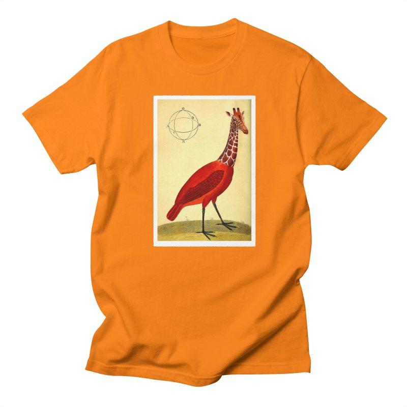 Bird Giraffe Men's Regular T-Shirt by Artist Shop of Pyramid Expander