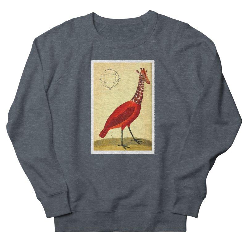 Bird Giraffe Men's French Terry Sweatshirt by Artist Shop of Pyramid Expander