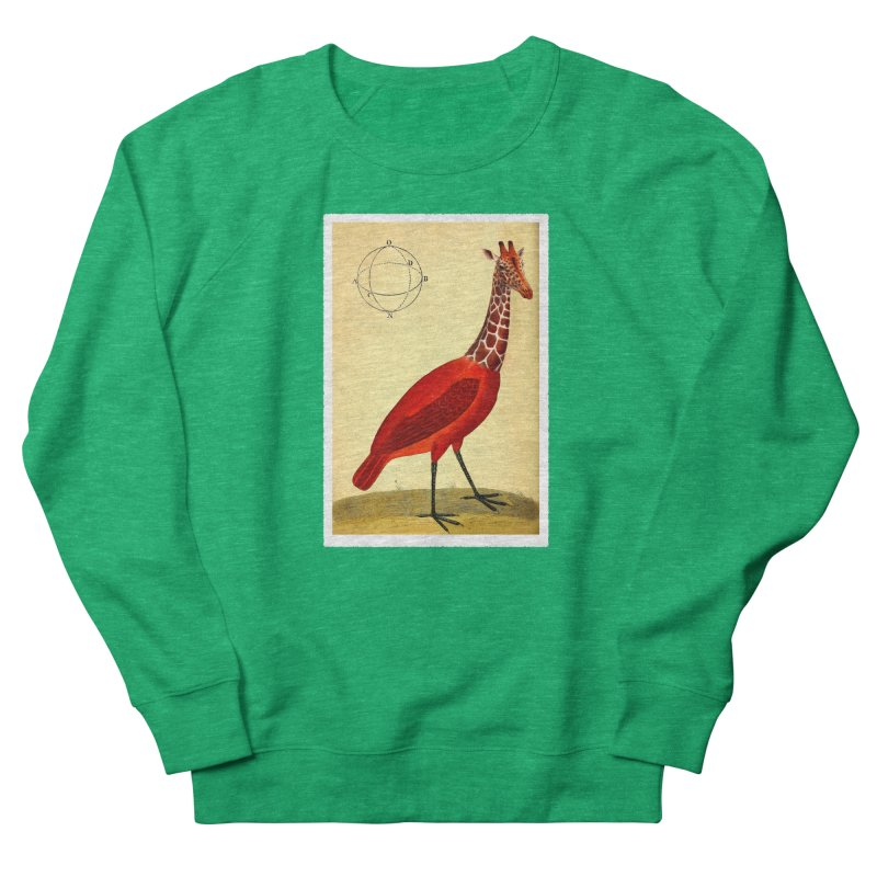 Bird Giraffe Men's French Terry Sweatshirt by Artist Shop of Pyramid Expander