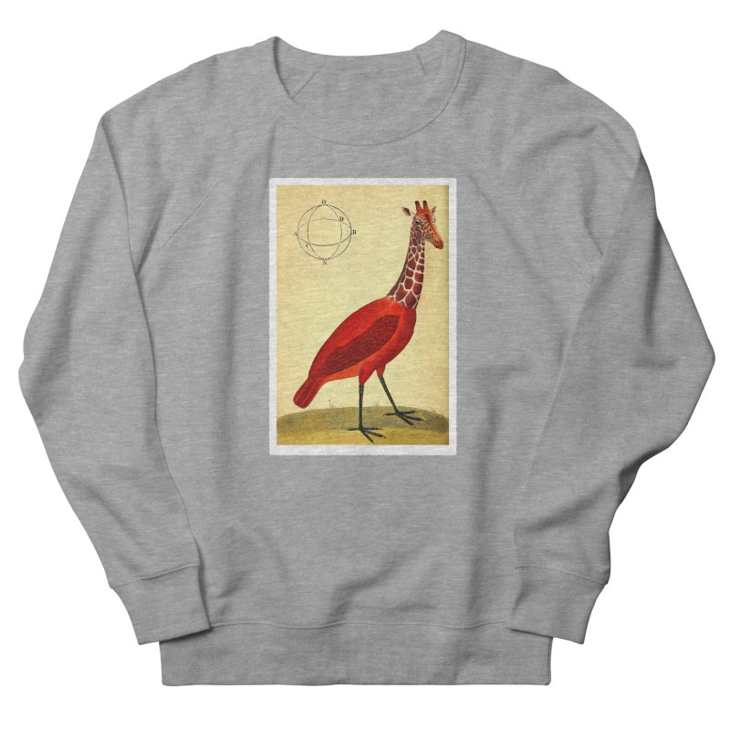 Bird Giraffe Men's Sweatshirt by Artist Shop of Pyramid Expander