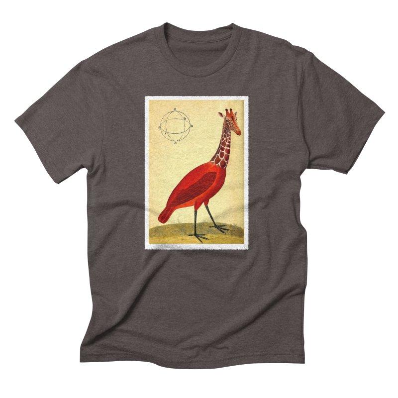 Bird Giraffe Men's Triblend T-shirt by Artist Shop of Pyramid Expander
