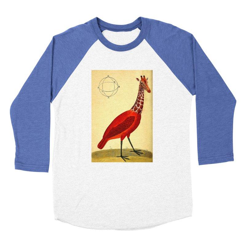 Bird Giraffe Women's Baseball Triblend T-Shirt by Artist Shop of Pyramid Expander