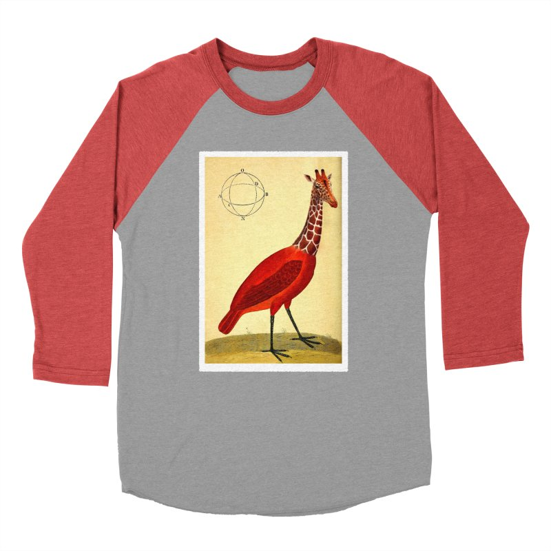 Bird Giraffe Women's Baseball Triblend T-Shirt by Artist Shop of Pyramid Expander