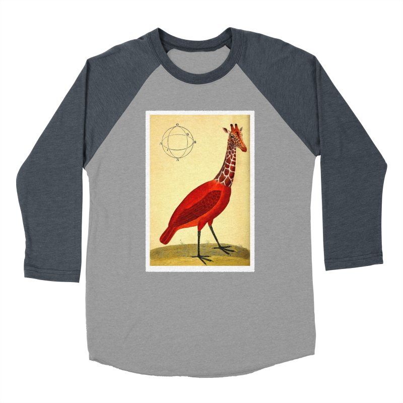 Bird Giraffe Women's Baseball Triblend Longsleeve T-Shirt by Artist Shop of Pyramid Expander