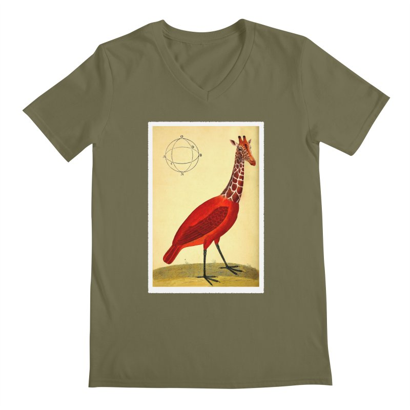 Bird Giraffe Men's V-Neck by Artist Shop of Pyramid Expander
