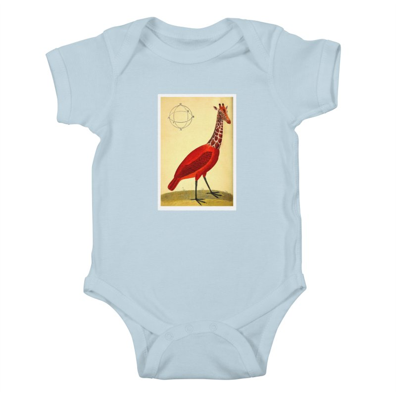 Bird Giraffe Kids Baby Bodysuit by Artist Shop of Pyramid Expander