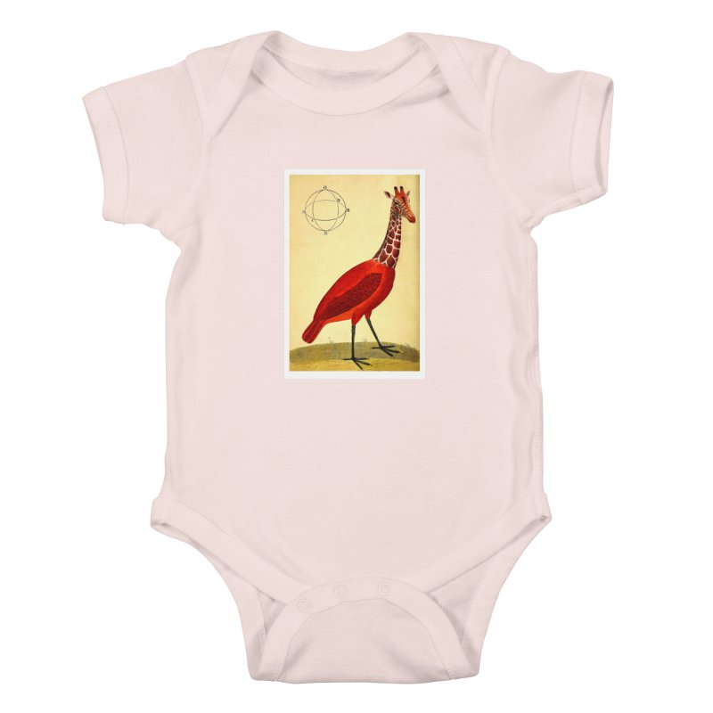 Bird Giraffe Kids Baby Bodysuit by Artist Shop of Pyramid Expander