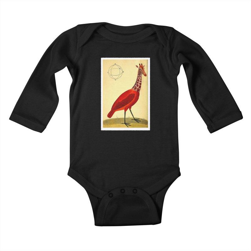 Bird Giraffe Kids Baby Longsleeve Bodysuit by Artist Shop of Pyramid Expander