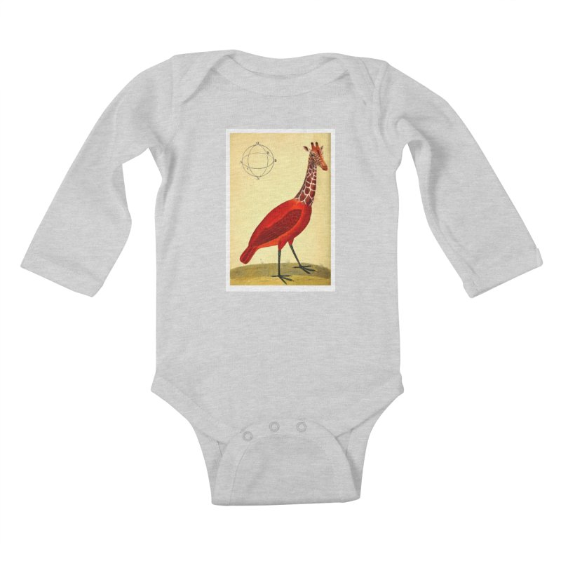 Bird Giraffe Kids Baby Longsleeve Bodysuit by Artist Shop of Pyramid Expander
