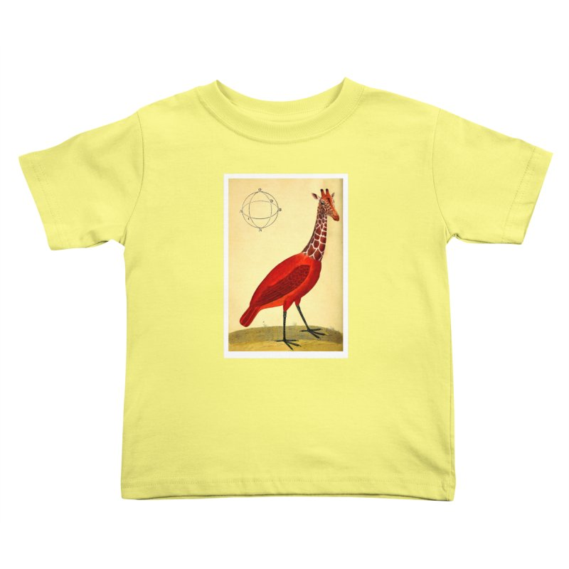 Bird Giraffe Kids Toddler T-Shirt by Artist Shop of Pyramid Expander