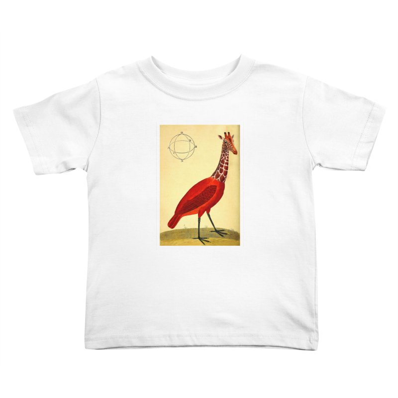 Bird Giraffe Kids Toddler T-Shirt by Artist Shop of Pyramid Expander