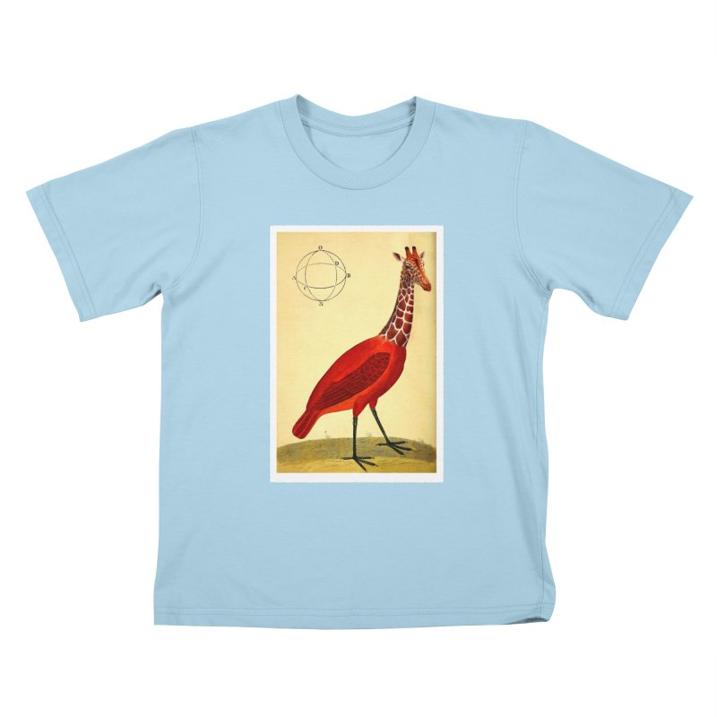 Bird Giraffe Kids T-shirt by Artist Shop of Pyramid Expander