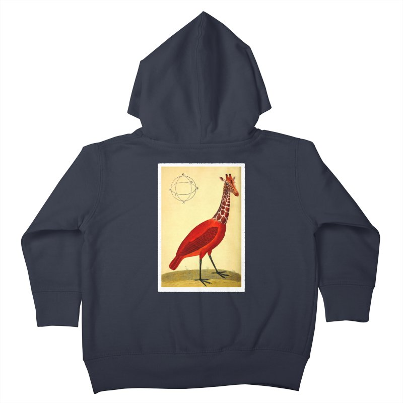 Bird Giraffe Kids Toddler Zip-Up Hoody by Artist Shop of Pyramid Expander