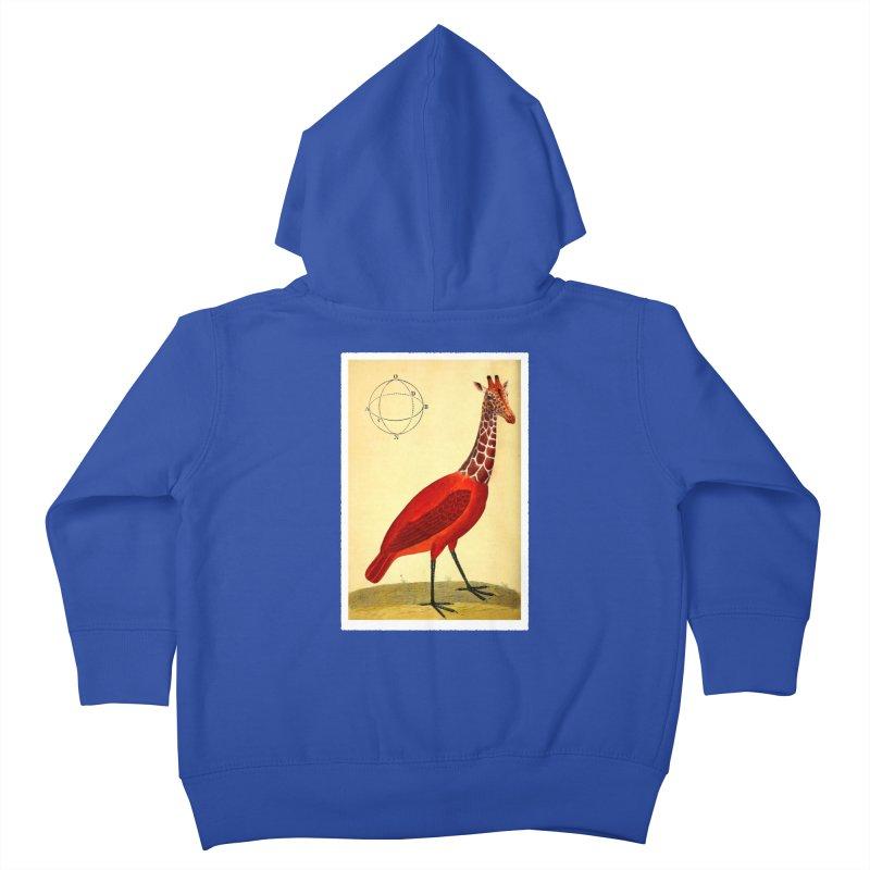 Bird Giraffe Kids Toddler Zip-Up Hoody by Artist Shop of Pyramid Expander