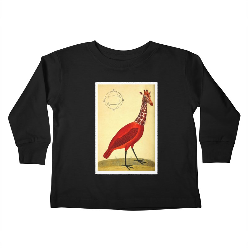 Bird Giraffe Kids Toddler Longsleeve T-Shirt by Artist Shop of Pyramid Expander