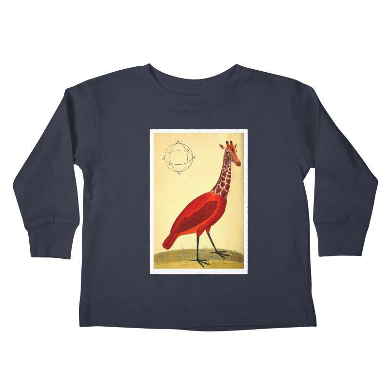 Bird Giraffe Kids Toddler Longsleeve T-Shirt by Artist Shop of Pyramid Expander