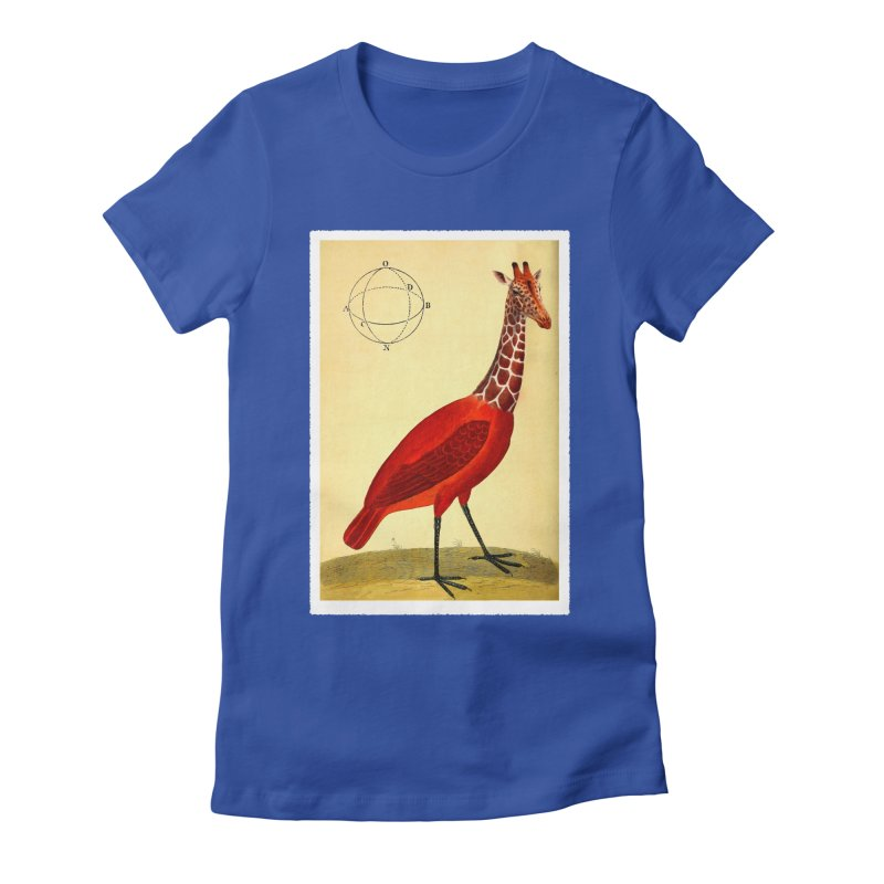 Bird Giraffe Women's Fitted T-Shirt by Artist Shop of Pyramid Expander