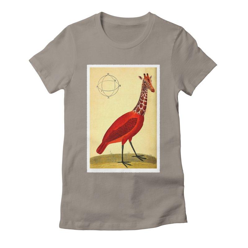 Bird Giraffe Women's Fitted T-Shirt by Artist Shop of Pyramid Expander