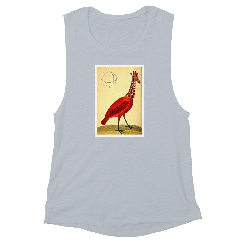 Bird Giraffe Women's Muscle Tank by Artist Shop of Pyramid Expander