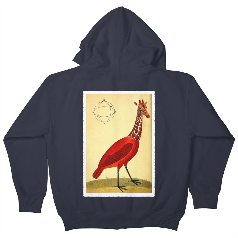 Bird Giraffe Kids Zip-Up Hoody by Artist Shop of Pyramid Expander