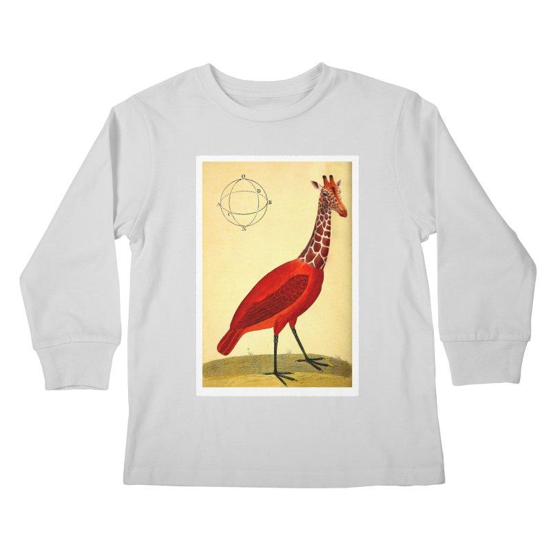 Bird Giraffe Kids Longsleeve T-Shirt by Artist Shop of Pyramid Expander