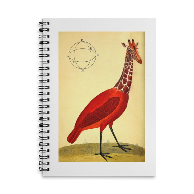 Bird Giraffe Accessories Lined Spiral Notebook by Artist Shop of Pyramid Expander