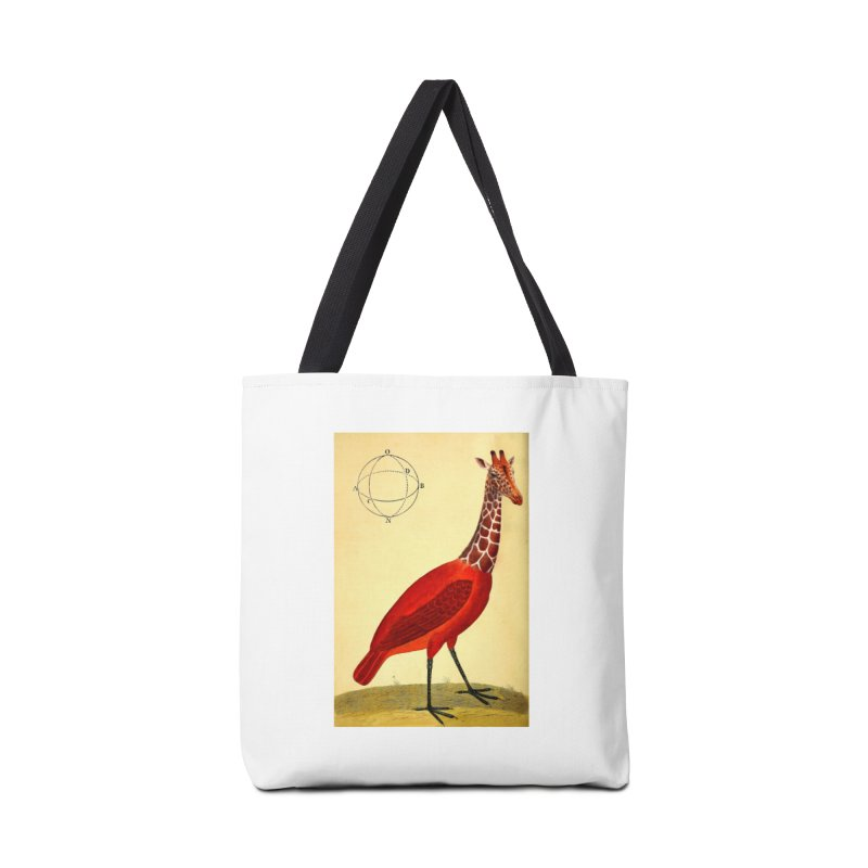 Bird Giraffe Accessories Tote Bag Bag by Artist Shop of Pyramid Expander