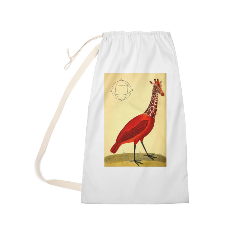 Bird Giraffe Accessories Laundry Bag Bag by Artist Shop of Pyramid Expander