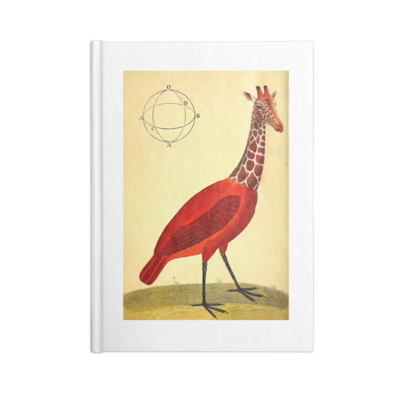Bird Giraffe Accessories Blank Journal Notebook by Artist Shop of Pyramid Expander