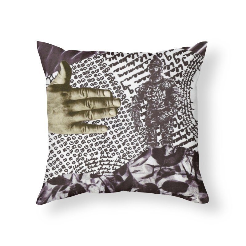 Wave Protection Home Throw Pillow by Artist Shop of Pyramid Expander