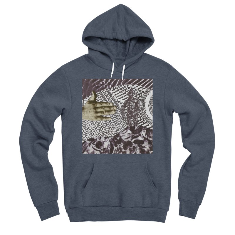Wave Protection Men's Sponge Fleece Pullover Hoody by Artist Shop of Pyramid Expander