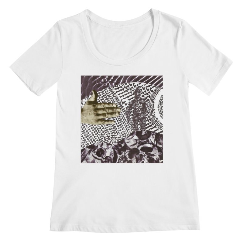 Wave Protection Women's Regular Scoop Neck by Artist Shop of Pyramid Expander