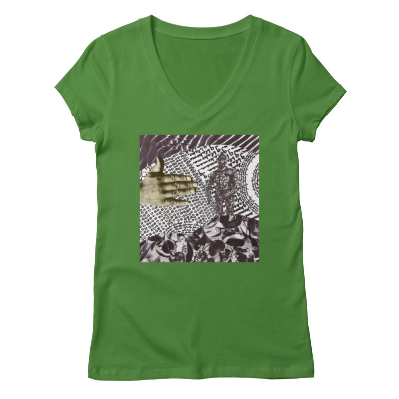Wave Protection Women's Regular V-Neck by Artist Shop of Pyramid Expander
