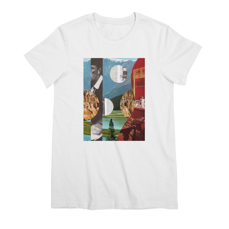 Memory Landscapes Women's Premium T-Shirt by Artist Shop of Pyramid Expander