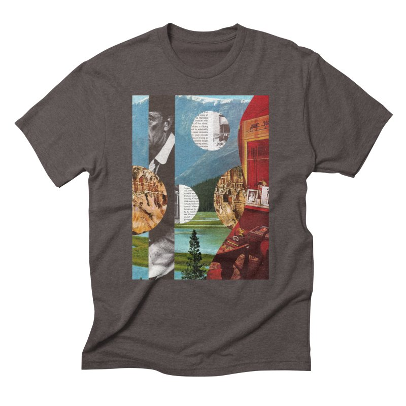 Memory Landscapes Men's Triblend T-Shirt by Artist Shop of Pyramid Expander