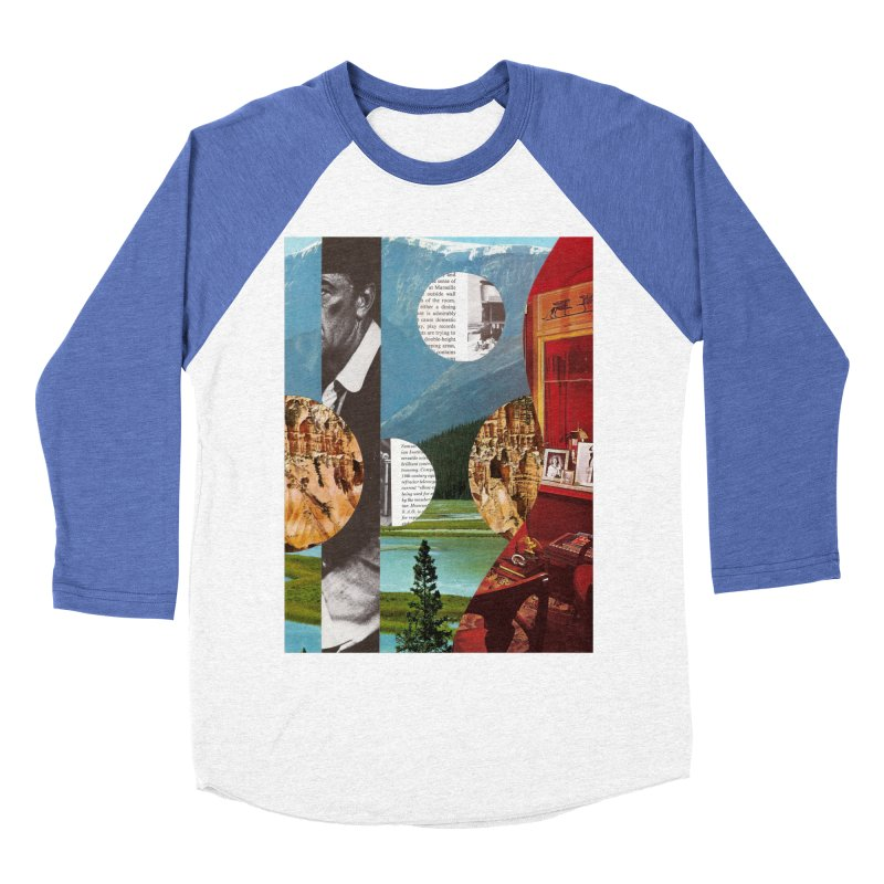 Memory Landscapes Women's Baseball Triblend Longsleeve T-Shirt by Artist Shop of Pyramid Expander