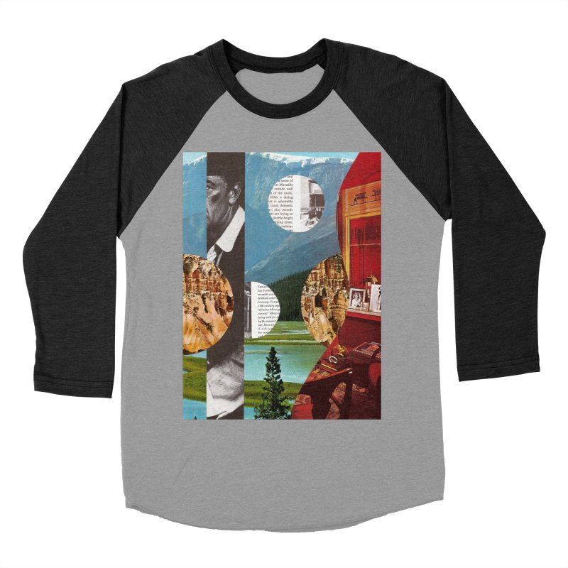 Memory Landscapes Women's Baseball Triblend Longsleeve T-Shirt by Artist Shop of Pyramid Expander